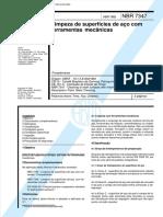 NBR 7347 - Limpeza de Superfícies de Aço Com Ferramentas Mecânicas - Procedimento