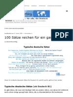 100 Sätze reichen für ein ganzes Leben - Deutsch lernen