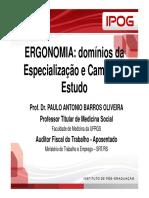 Definições de Ergonomia