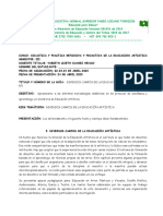 DIDACTICA ARTISTICA III SEMESTRE. GUIA 1