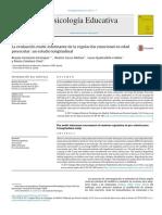 La evaluación multi-informante de la regulación emocional en edad preescolar- un estudio longitudinal