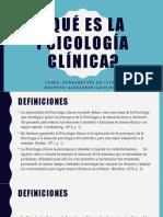 5. Qué es la psicología clínica