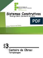 Sistemas Construtivos Aula 003 - Canteiro de Obras - Terraplenagem