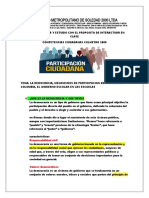GUIA 11°  DE LOS MECANISMOS DE PARTICIPACION DEMOCRATICA COLMETRO