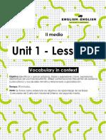 II° medio_lesson 1