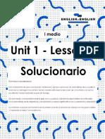 I° medio_lesson 2_Solucionario