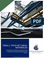 TEMA 2. TIPOLOGÍA DE TUBOS. MATERIALES