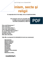 20 religii comparate
