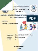 ANALISIS DE MOVIMIENTOS DEMOGRAFICOS