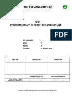 61. PL 3.04 SOP Pemasangan APP Elektro Mekanik 3 Phasa