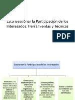 13.3 Gestionar la participación de los interesados