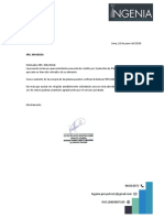 Carta MAVEGSA- INGENIA
