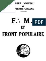 LUL Franc-Maconnerie Et Front Populaire