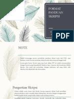 format skripsi bimbingan