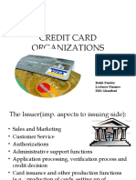 CREDIT CARD ORGANIZATIONS