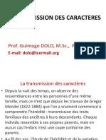 Transmission Des Caracteres 2019