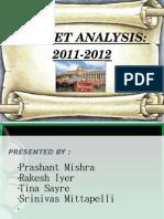 Budget Analysis 2011-12