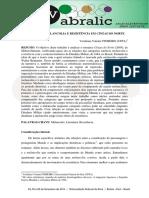 ESTÉTICA DA MELANCOLIA E RESISTÊNCIA EM CINZAS DO NORTE