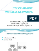 Capacity of Ad Hoc Wireless Networks (2)