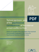 Torture survivors' perception of the physchosocial consequences of the internal armed conflict in Peru