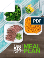 7 Day Six Pack program with sample meal plan
