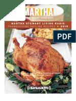 Martha Stewart Thanksgiving Hotline Recipes 2010
