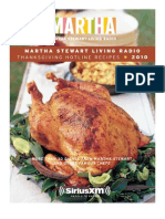 Martha Stewart Thanksgiving Hotline Recipes 2010