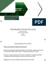 Teórico - Política Internacional - Quadro de aula 01