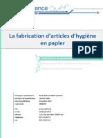 La Fabrication d'Articles d'Hygiène en Papier