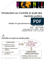 Controle Et Audit Des Marchés Publics