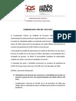 Comunicado URH - Retorno das atividades presenciais 2021