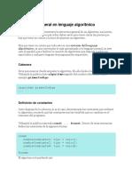 3 Estructura general en lenguaje algorítmico