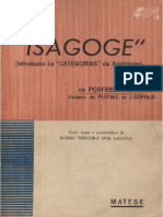 Porfírio - Isagoge (Notas e Comentários de Mário Ferreira Dos Santos) - (Clearscan)