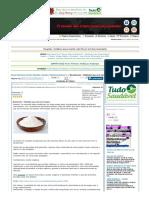 Bicarbonato - Utilidades que você nem Imagina