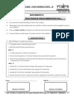 Test - 3 (Maths) Board Test (Paper)