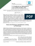 Artigo - Estudo sobre a Fragilização por hidrogênio de Trincas em cordões de solda a Frio
