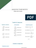 variables de composición