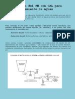 Corrección del PH con CAL para Tratamiento de Aguas