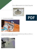 5 trucs faciles pour vous débarrasser d'un évier bouché