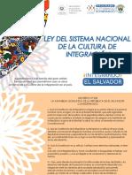 LEY DEL SISTEMA NACIONAL DE LA CULTURA DE INTEGRACIÓN