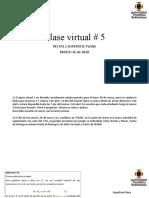 Clase virtual 5 Superficie Plana (Semana 10) G4Pm 26032020