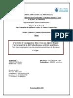 L'activité de consignation de navires en Algérie depuis l'avènement de la libéralisation des activités maritimes