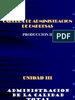 UNIDAD III.- Calidad