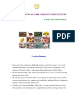 ANALYSIS OF INDIAN FOOD INDUSTRY