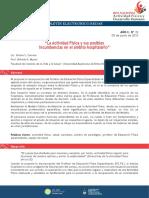 3.3 Carrera, S. S., & Murisi, A. R. La Actividad Física y sus posibles incumbencias en el ámbito hospitalario.