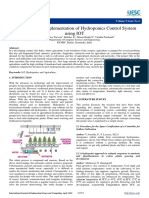 The Design and Implementation of Hydroponics Control System