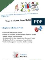 7. Teamwork and teambuilding