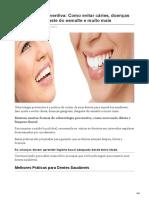 Odontologia Preventiva Como Evitar Cáries Doenças Gengivais Desgaste Do Esmalte e Muito Mais