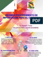 PROCEDIMIENTO DE REGIMEN DE IMPORTACION