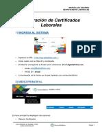 Generación de Certificados Laborales